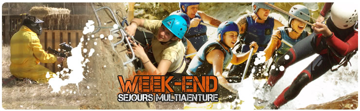 Programmes Week-end Multiaventure: canyoning, rafting, paintball...