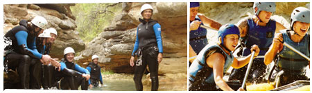 Multiaventura: Barranquismo + Paintball + Rafting