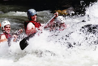 White Water Rafting in summer