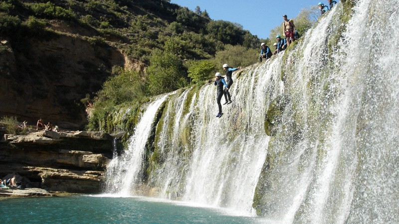 Descenso de barrancos en la Sierra de Guara